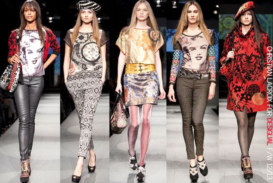 Christian lacroix for desigual fall 2012