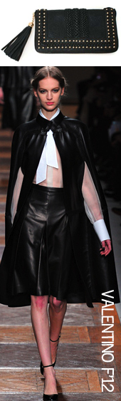 Valentino leather cape fall 2012