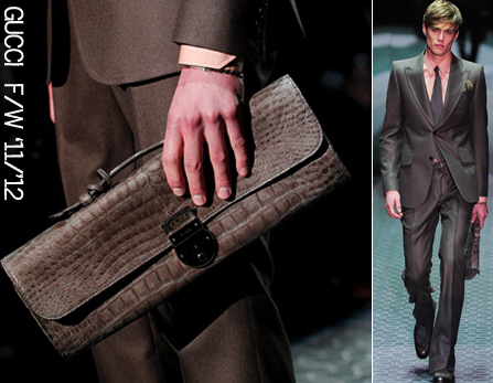 Gucci menswear croc bag fall 2011 winter 2012