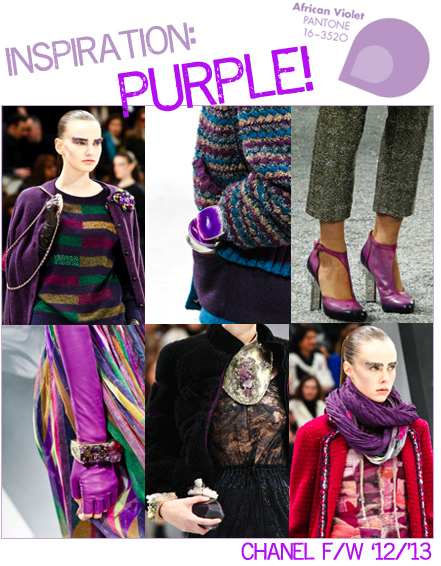 CHANEL purple fall 2012