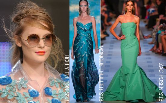Mermaid trend spring 2013 fashion runways