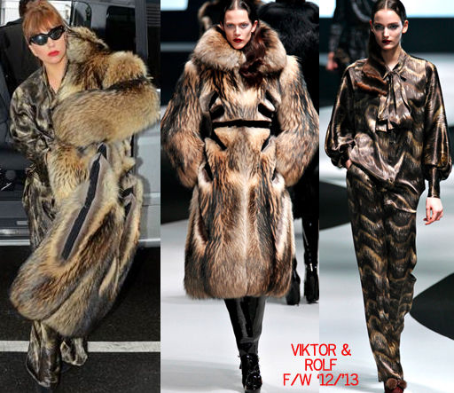 Lady gaga fur viktor rolf fall 2012 winter 2013 copy