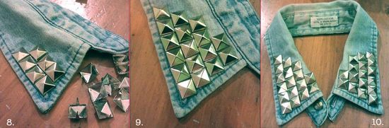 How to make studded denim collar 3 copy