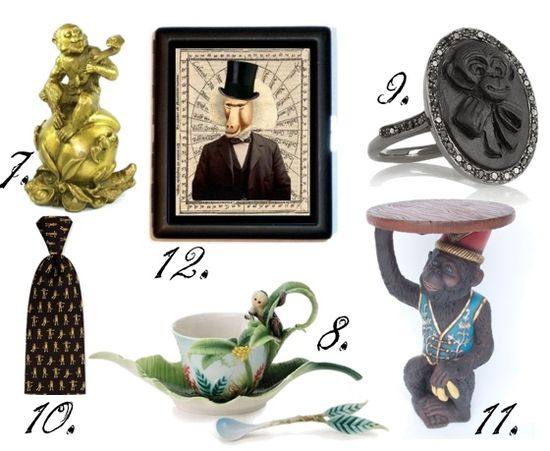 Monkey theme trend fashion jewelry accessories home decor