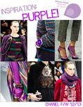CHANEL purple fall 2012