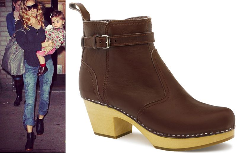 Sarah jessica parker swedish hasbeens jodhpur boots booties