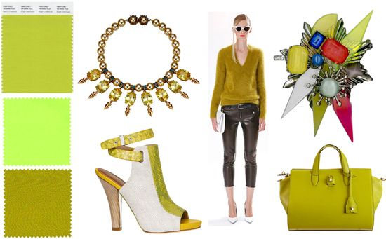 Chartreuse fashion trend 2013