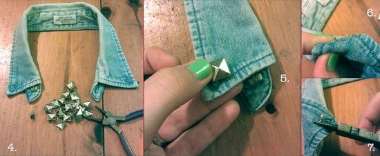 How to make studded denim collar 2 copy