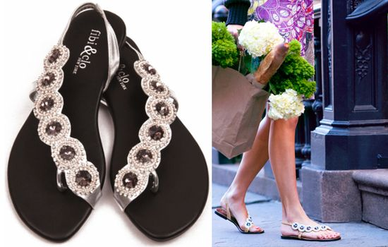 Fibi clo bejeweled sandals