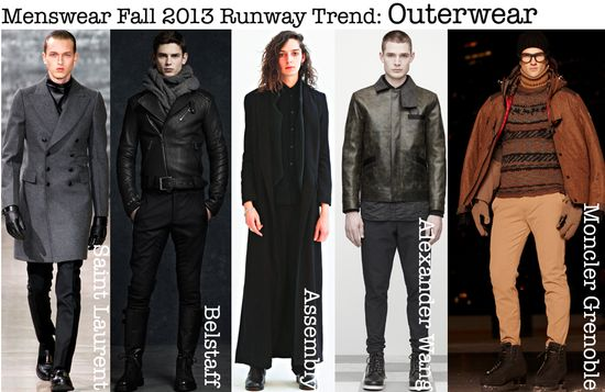 Menswear fall 2012 runway outerwear fashion trend