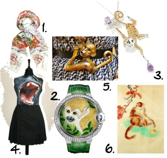 Monkey theme trend fashion jewelry accessories