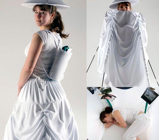 Dress skirt tent portable home