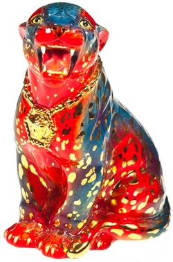 Haas brothers versace leopard statue
