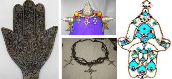 Traditional nomadic berber jewelry
