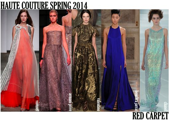 Haute couture spring 2014 red carpet looks