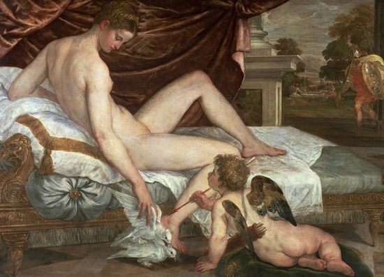 Venus and Cupid1555 Lambert Sustris