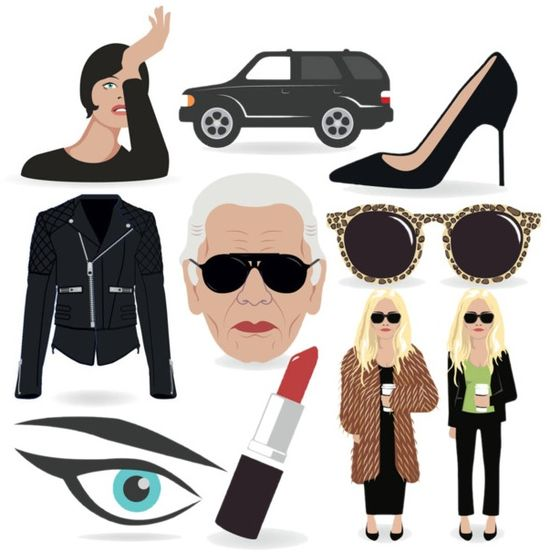 Fashion emojis emoticons