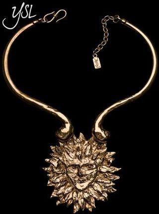 Ysl lion necklace