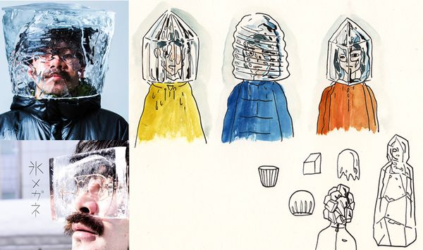 Bake maeda ice mask glasses