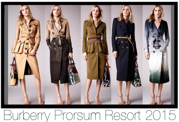 Burberry Prorsum Trenchcoats Trench Coats Resort 2015