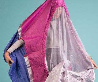 Walking Shelter one-person tent mobile habitat by Sibling