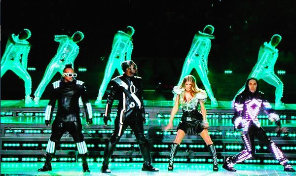 Black eyed peas superbowl light up costumes