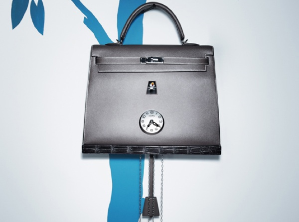 Hermes petit h kelly bag handbag clock