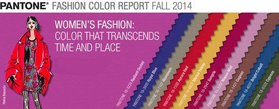 Fall 2014 womens fashion colors pantone