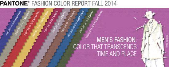 Pantone mens fashion colors 2014
