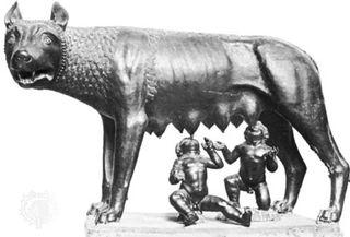Romulus remus wolf sculpture statue lupicalia