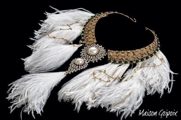 Maison gripoix feather necklace