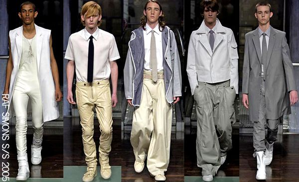 Raf simons menswear spring 2005