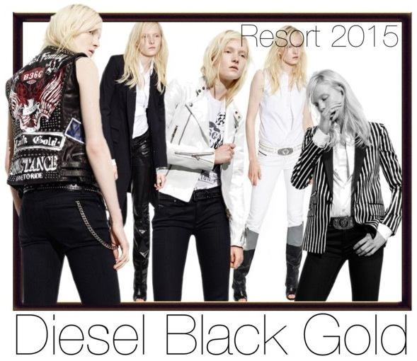 Diesel black gold resort 2015 biker chic fashion