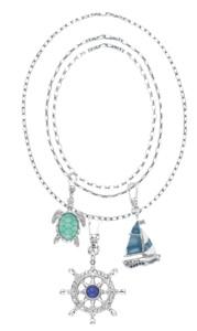 Nautical beach layered statement necklace jewelry jewellery