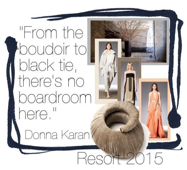 Donna Karan Resort 2015 runway fashion collection