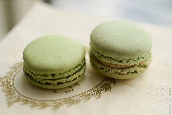 S s green pistachio laduree macarons
