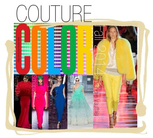 Haute couture fall fashion 2014 crayon brights colors colours trends