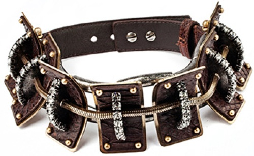 Lanvin fall 2014 diamond leather dog collar necklace