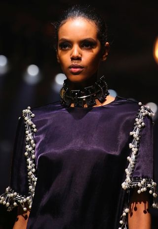Lanvin fall 2014 diamond dog collar necklace jewelry