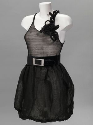 Bioplastic fashion little black dress