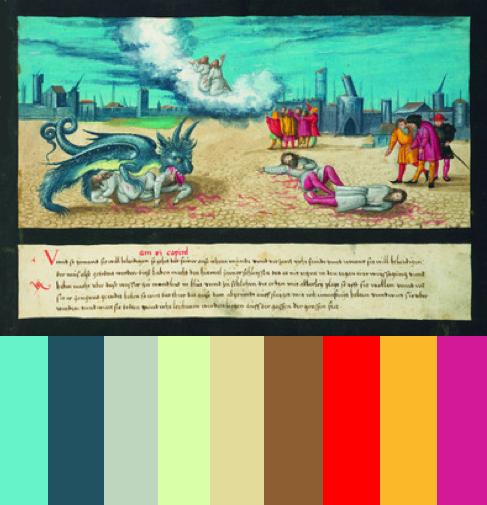 Apocalypse art color palettes 5