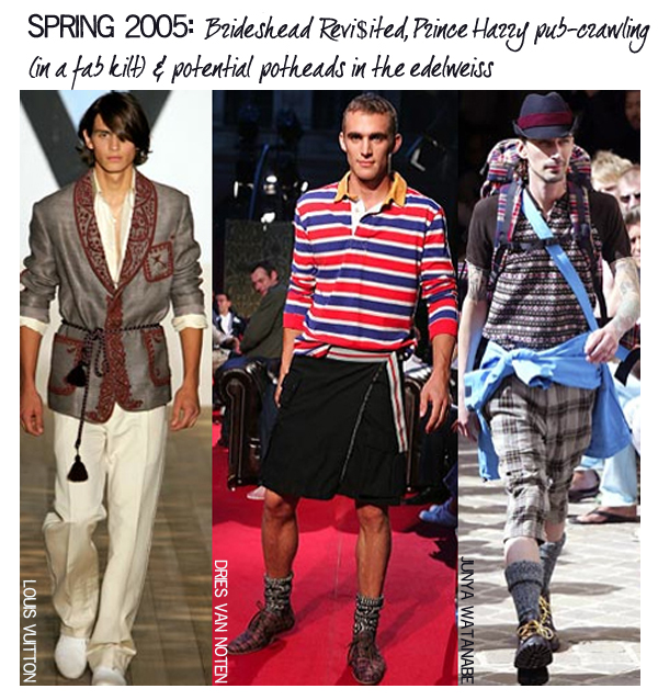 Spring 2005 menswear trends