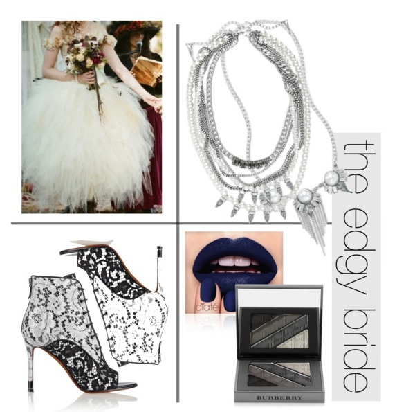 Edgy punk rock goth emo bridal wedding dress fashion