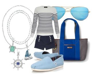 Nautical sailor summer chic style fashion