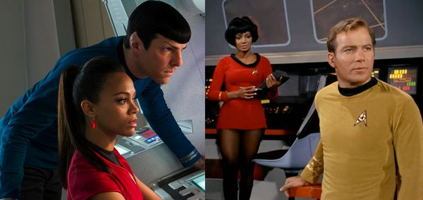 Star trek fashion style uniforms