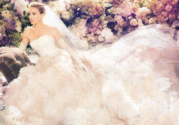 Couture wedding dresses carrie bradshaw