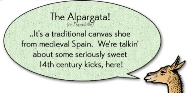 Alpargata espadrille shoes illustration
