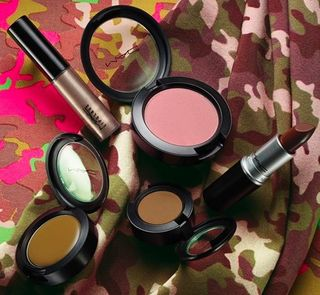 Artificially wild camo camouflage mac makeup collection