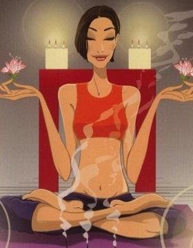 Fashion illustration zen meditation jordi labanda