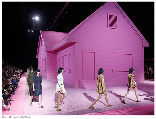 Marc jacobs pink house army surplus spring 2015